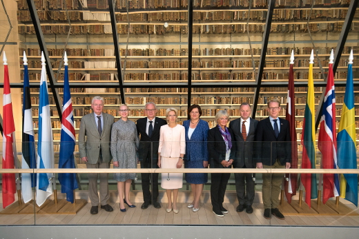 The Speakers of the Nordic and Baltic Parliaments gathered in Riga. Photo: The Latvian Parliament
